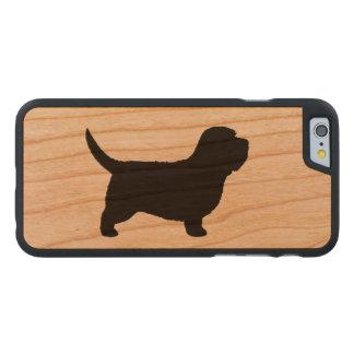 Petite silhouette de Vendeen de griffon de basset Coque Carved® iPhone 6 En Cerisier