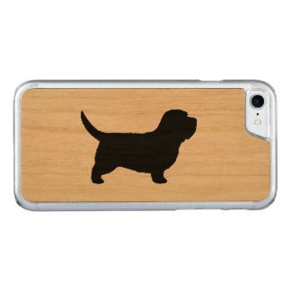 Petite silhouette de Vendeen de griffon de basset Coque Carved Pour iPhone 7