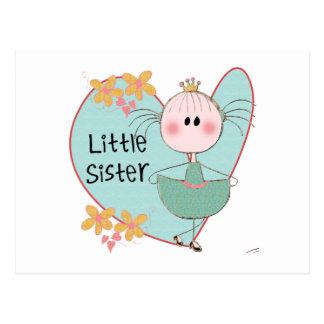 Petite soeur de coeur carte postale