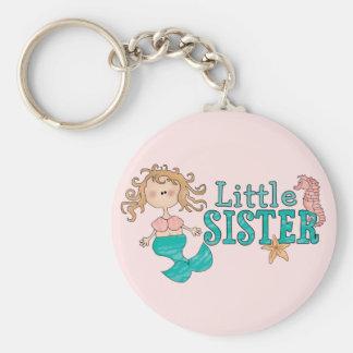 Petite soeur de sirène porte-clé rond