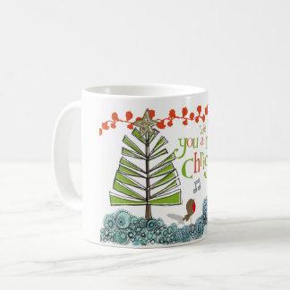 Petite tasse mignonne de Noël