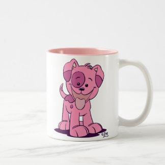 Petite tasse rose de chiot