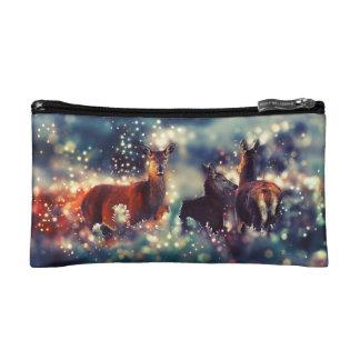 Petite Trousse De Maquillage Animaux de cerfs communs en hiver - paysage de