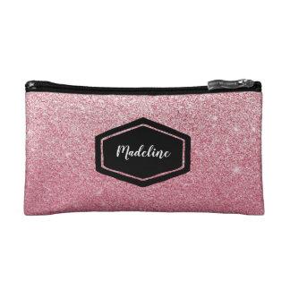 Petite Trousse De Maquillage Caisse de cosmétiques rose personnalisée de