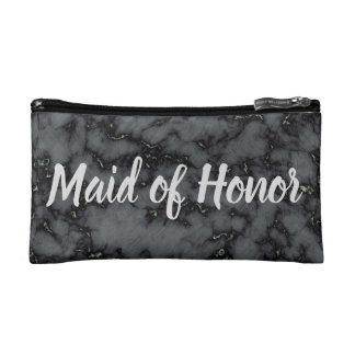 Petite Trousse De Maquillage Domestique de marbre de noir d'honneur