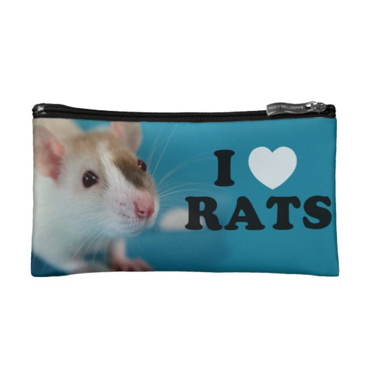 Petite Trousse De Maquillage I love (siamese) Rat