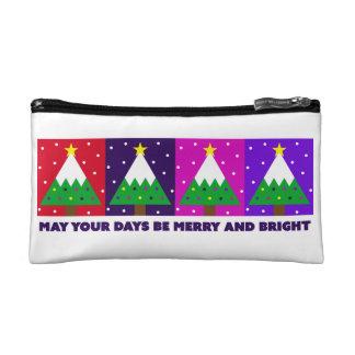 Petite Trousse De Maquillage Joyeux et lumineux arbre de Noël génial