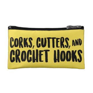 Petite Trousse De Maquillage Lièges, coupeurs, et poche de tirette de crochets