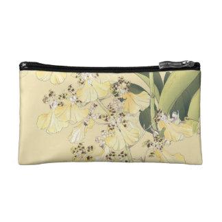Petite Trousse De Maquillage Orchidées japonaises de léopard d'impression de