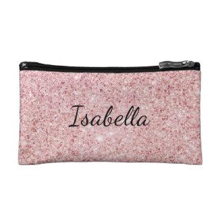 Petite Trousse De Maquillage Rougissent le nom personnalisé par paillette rose