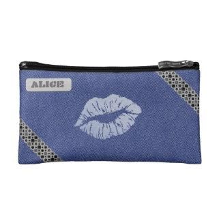 """Petite Trousse De Maquillage Trousse de maquillage petit modèle """"Blue Kiss"""""""