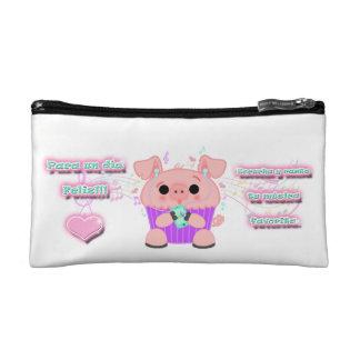 Petite Trousse De Maquillage Une pratique lapizera avec un petit cochon kawaii