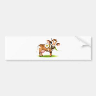 Petite vache du Jersey mangeant la marguerite Autocollant Pour Voiture