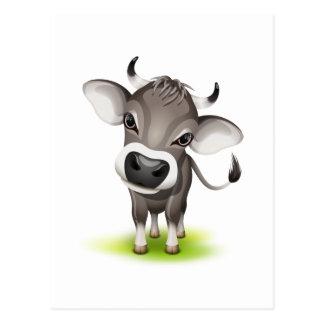 Petite vache suisse carte postale
