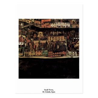 Petite ville, par Schiele, Egon Cartes Postales