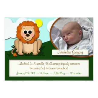 Petites annonces de naissance de garçon ou de carton d'invitation  12,7 cm x 17,78 cm