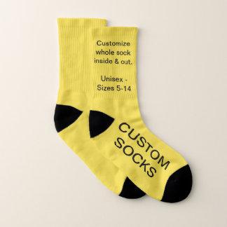 Petites chaussettes jaunes personnalisables faites