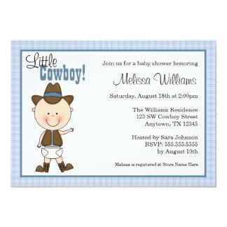 Petites invitations de baby shower de cowboy