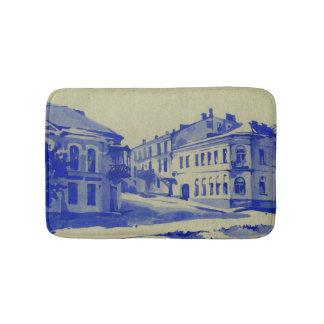 Petites rues dans la vieille ville tapis de bain