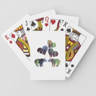 Petits animaux d'ours cartes à jouer
