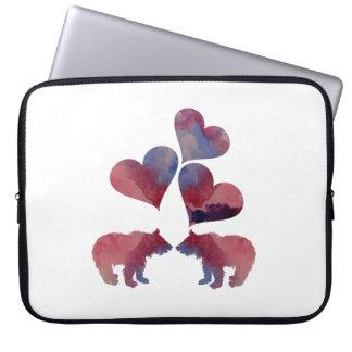Petits animaux d'ours protection pour ordinateur portable