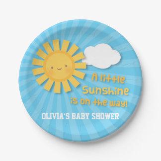Petits approvisionnements mignons de baby shower assiettes en papier