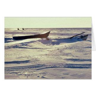 Petits bateaux de Kotzebue au bruit de Kotzebue en Carte De Vœux