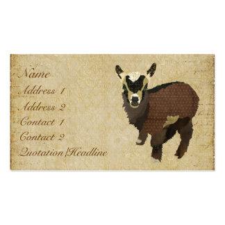 Petits carte de visite étiquettes de chèvre