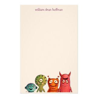 Petits enfants de monstres papiers à lettres