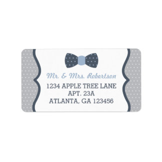Petits étiquette de adresse, bleu et gris de