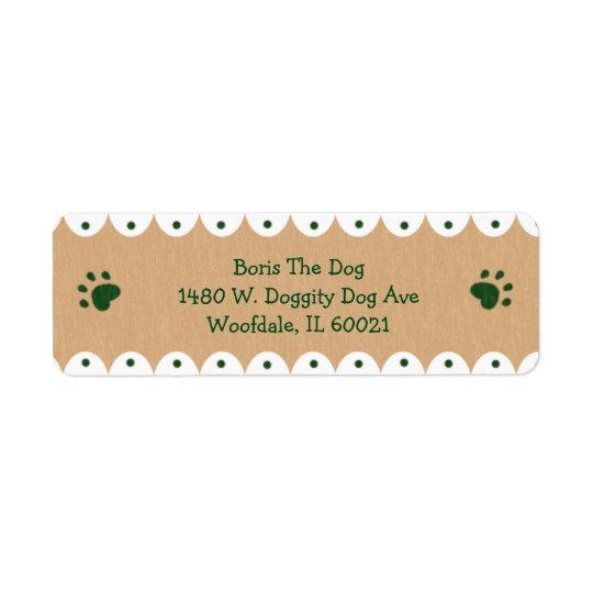 Petits étiquettes de adresse de pattes vertes