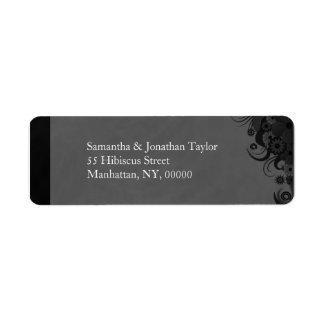 Petits étiquettes de adresse de retour floraux