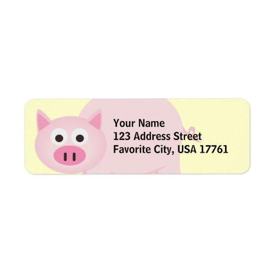 Petits étiquettes de adresse porcins