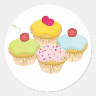 Petits gâteaux autocollants ronds