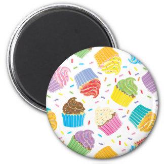 Petits gâteaux colorés magnets