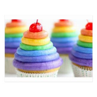 Petits gâteaux d'arc-en-ciel cartes postales