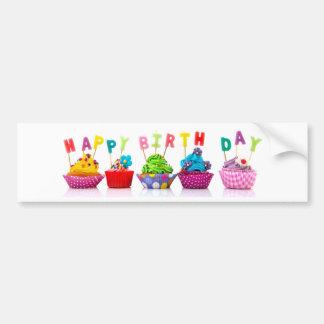 Petits gâteaux de joyeux anniversaire - adhésif autocollant de voiture