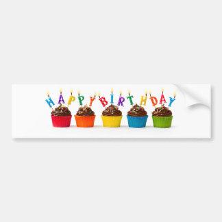 Petits gâteaux de joyeux anniversaire autocollant pour voiture