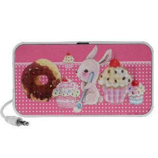 Petits gâteaux de Kawaii et lapin mignon - haut-pa Haut-parleurs Portables