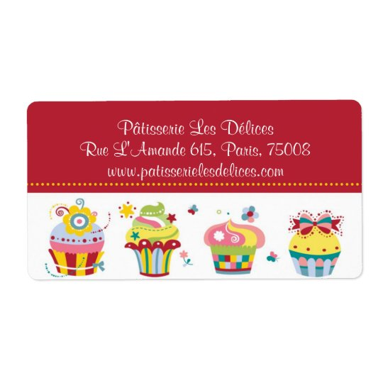Petits gâteaux de Les - étiquettes personnalisable