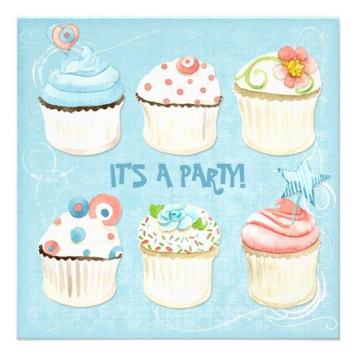 Petits gâteaux doux - c'est une partie !  Invitati Carton D'invitation