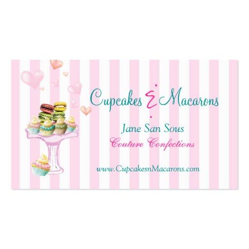 Petits gâteaux et carte de visite de Macarons