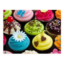 Petits gâteaux lunatique décorés cartes postales