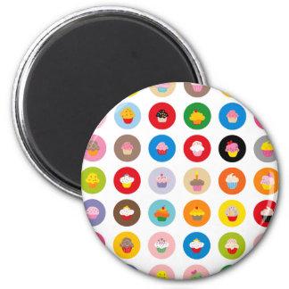 Petits gâteaux tous magnet rond 8 cm