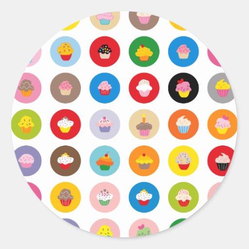 Petits gâteaux tous sticker rond