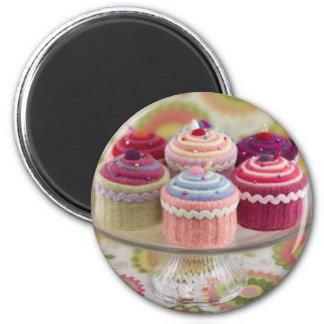 petits gâteaux tricotés aimant pour réfrigérateur