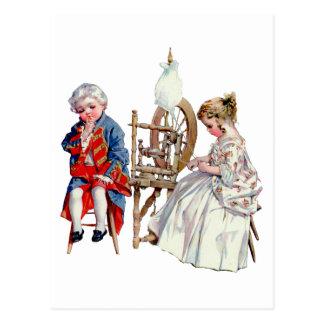 Petits George et Martha Washington Carte Postale