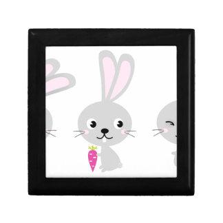 Petits lapins mignons gris boîte à souvenirs