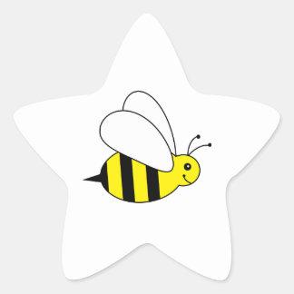 Petits mignons gaffent la ferme de miel d'abeille autocollants en étoile