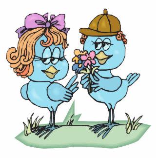 petits oiseaux bleus mignons dans le graphique de  photo en découpe